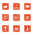 best banker icons set grunge style vector image vector image