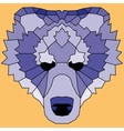 Blue low poly lined bear vector image vector image