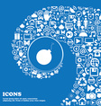 bomb icon Nice set of beautiful icons twisted vector image vector image