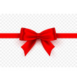 bow red tape on transparent background vector image vector image