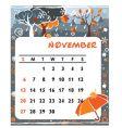 calendar november vector image vector image