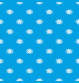camomile flower pattern seamless blue vector image