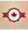 canada patriotic tag with ribbon vector image vector image