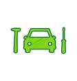 car tire repair service sign lemon vector image vector image