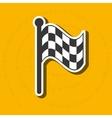 checkered flag design vector image vector image