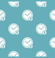 clock money pattern seamless blue vector image