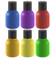 Colourful ink bottles vector image vector image