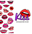 comic female lips vector image vector image