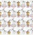 delicious coffee beverage background design vector image vector image