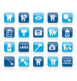 dental medicine and dentistry tools icons vector image vector image