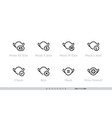 different sizes masks icon set size xs vector image
