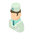 doctor man icon isometric 3d style vector image