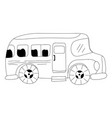 dotted shape vehicle school bus education vector image vector image
