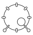 drum icon outline style vector image vector image