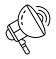 electric megaphone icon outline style vector image vector image