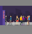 enter a club concept flat design vector image