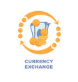 flat banner currency exchange on white background vector image vector image