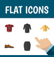 flat icon clothes set of banyan stylish apparel vector image vector image