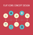 flat icons mark moneybox safe and other vector image vector image