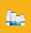 flat milk icon set isolated on color background vector image vector image