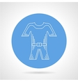 Flat round icon for wetsuit vector image