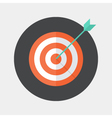 Flat target icon vector image vector image