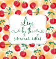 Fresh watercolor summer background with message vector image vector image