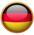 germany flag on round button vector image vector image
