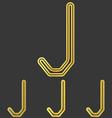 Golden line j logo design set vector image vector image