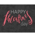 Grunge textured Happy Valentines day inscription vector image vector image