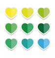 heart label sticker set vector image