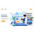 hotel website design online booking service vector image vector image