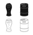 isolated object of pub and bar symbol collection vector image vector image