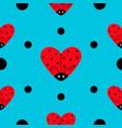 ladybug ladybird icon set heart shape baby vector image vector image
