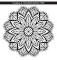 mandala coloring book pages indian antistress vector image vector image