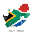Map south africa with flag