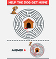 maze game help the dog get home vector image vector image