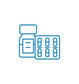 medical supplies linear icon concept medical vector image