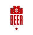 modern craft beer drink logo sign for bar pub vector image vector image