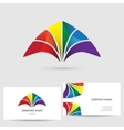 Modern icon design logo element with business card vector image vector image