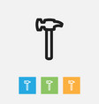 of tools symbol on hammer vector image vector image