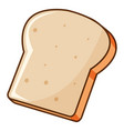one piece bread toasted on white background vector image