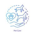 pet shelter concept icon domestic animals clinic