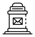 post box icon outline style vector image vector image