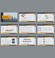 professional business presentation template vector image vector image