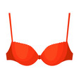 red woman molded-cup bra isolated on white vector image vector image