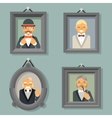 Retro Vintage Photo Frames Wealthy Victorian vector image