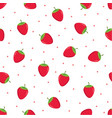 seamless pattern strawberries vector image vector image