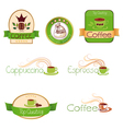 set of logos for coffee green vector image