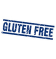 square grunge blue gluten free stamp vector image vector image